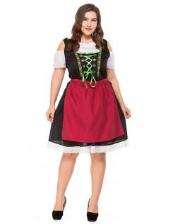 Bayersk Oktoberfest Kostyme Store Størrelser Dirndl Heidi Kjole