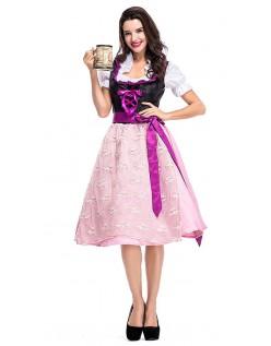 Serverer Wench Oktoberfest Kostyme Dirndl Kjole