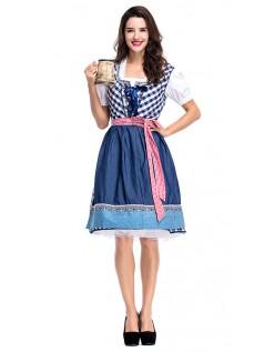 Tradisjonell Dirndl Kjole Oktoberfest Kostyme