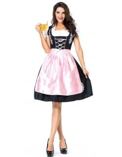 Broderi Dirndl Kjole Oktoberfest Kostyme Dame