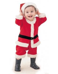 Baby Gutt Santa Claus Nissedrakt Søte Barn Julekostyme
