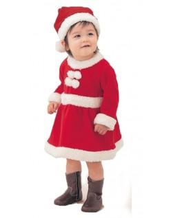 Baby Jente Santa Claus Nissedrakt Søte Barn Julekostyme