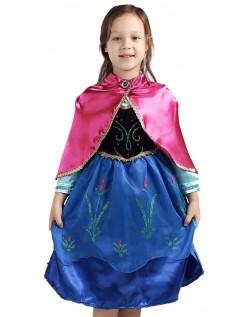 Vinter Barn Frozen Anna Kjole Med Kappe