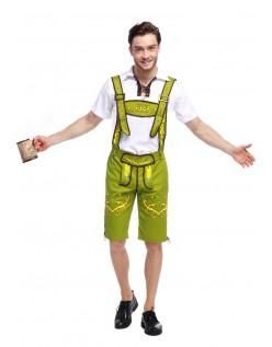 Bavarian Oktoberfest Lederhosen Kostym Grønn