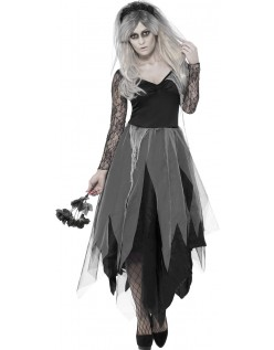Kirkegård Zombie Brud Kostyme