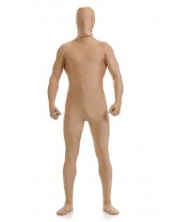 Morphsuit Skinsuit Lycra Spandex Drakt Heldekkende Herre Hudfarget