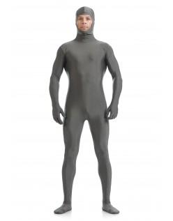 Skinsuits Lycra Spandex Drakt Åpent Ansikt Second Skin Suit Voksen Grå