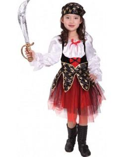 Barn Halloween Pirat Kostyme Jente