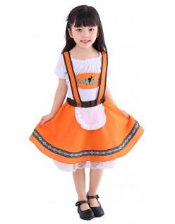 Tyske Land Jenter Oktoberfest Kostyme Tyrolerkjole