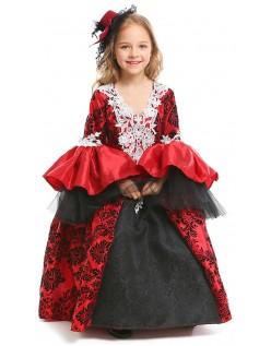 Gotiske Deluxe Jente Halloween Vampyr Kostyme for Barn