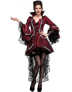 Elegant Viktoriansk Halloween Vampyr Kostyme