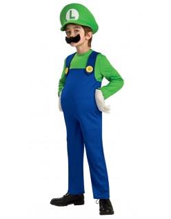 Deluxe Super Mario Bros Luigi Kostyme Barn