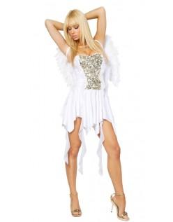 Hottie Hvit Engel Kostyme