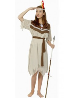 Voksen Halloween Indianer Kostyme Dame
