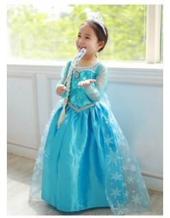 Isdronning Prinsesse Frozen Anna Elsa Kjole