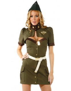 Sexy Army Kostyme Dame