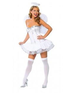 Sexy Hvit Engel Kostyme