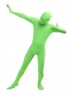 Morphsuit Skinsuit Lycra Spandex Drakt Heldekkende Herre Lysegrønn