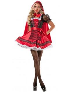 Søt Lille Rødhette Kostyme Dame