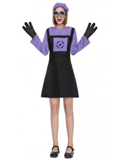 Grusomme Meg Ond Minions Kostyme Dame
