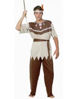 Voksen Halloween Indianer Kostyme Herre