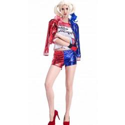 Skinnende Utskrift Suicide Squad Harley Quinn Kostyme Dame