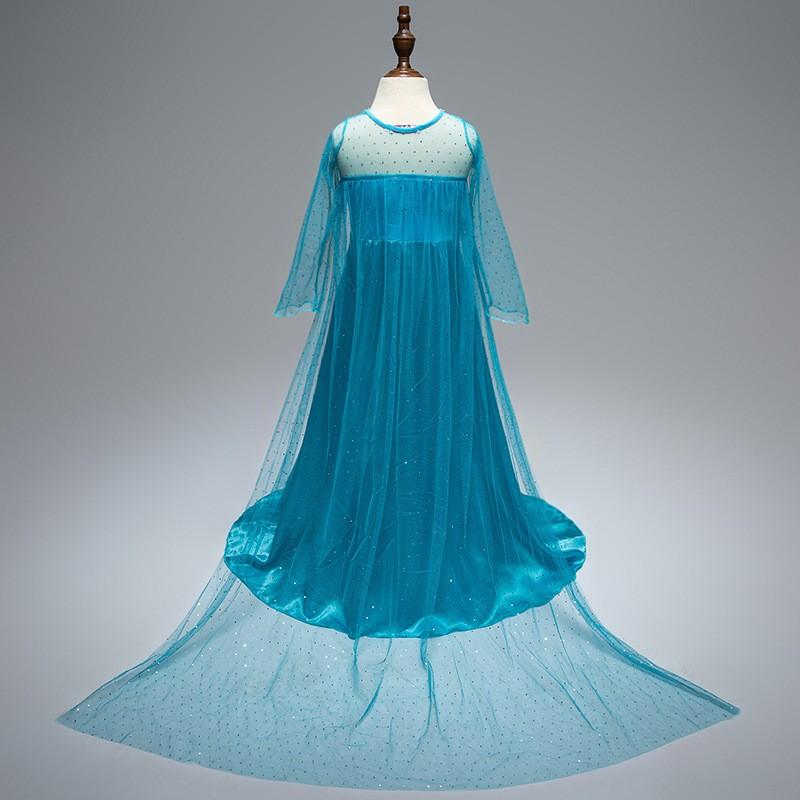 ccd2e89f Deluxe Frozen Kostyme Elsa Prinsesse Kjole Barn