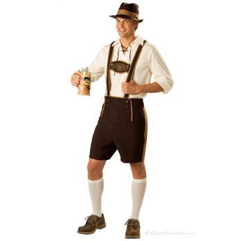 Bavarian Guy Oktoberfest Lederhosen Kostyme