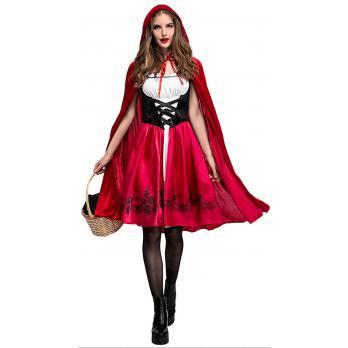 Klassisk Rødhette Kostyme til Halloween