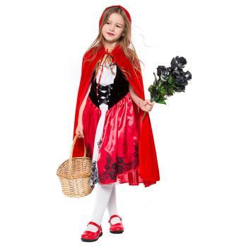 Barn Klassisk Lille Rødhette Kostyme til Halloween